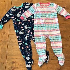 Carter's fleece footed pajamas